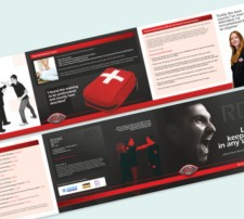 A5 Luxury 6 Page Leaflet - (Double Sided) Folded